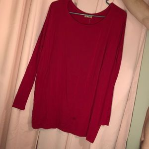Red long sleeve piko